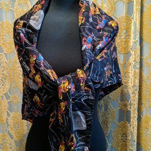 Giant silk hockey scarf